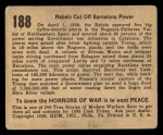 1938 Gum Inc. Horrors of War #188   Rebels Cut Off Barcelona Power Back Thumbnail
