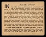 1938 Gum Inc. Horrors of War #116   Surrender or Perish Back Thumbnail