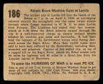 1938 Gum Inc. Horrors of War #186   Rebels Brave Machine Guns at Lerida Back Thumbnail