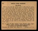 1941 Gum Inc Uncle Sam #30   Sea Duty Back Thumbnail