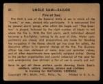 1941 Gum Inc Uncle Sam #21   Fire At Sea Back Thumbnail