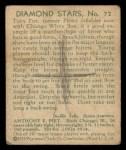 1935 Diamond Stars #72  Tony Piet   Back Thumbnail