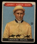1933 Goudey Sport Kings #13  Laverne Fator   Front Thumbnail