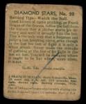 1935 Diamond Stars #20  Frank Hogan   Back Thumbnail