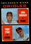 1971 O-Pee-Chee #362   -  Mike Adamson / Roger Freed Orioles Rookies Front Thumbnail