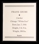 1933 Tattoo Orbit Reprint #24  Frank Grube  Back Thumbnail