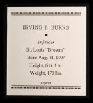 1933 Tattoo Orbit Reprint #7  Irving Burns  Back Thumbnail