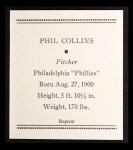 1933 Tattoo Orbit Reprint #13  Phil Collins  Back Thumbnail