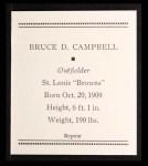 1933 Tattoo Orbit Reprint #9  Bruce Campbell  Back Thumbnail