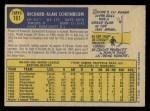 1970 O-Pee-Chee #161  Richie Scheinblum  Back Thumbnail