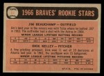 1966 O-Pee-Chee #84   -  Jim Beauchamp / Dick Kelley Braves Rookies Back Thumbnail