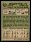 1967 O-Pee-Chee #148  Adolfo Phillips  Back Thumbnail