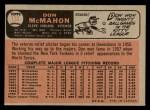 1966 O-Pee-Chee #133  Don McMahon  Back Thumbnail