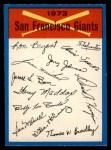 1973 O-Pee-Chee Blue Team Checklist #22   -       Giants Team Checklist Front Thumbnail