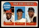 1969 O-Pee-Chee #8   -  Bob Gibson / Bob Bolin / Bob Veale NL ERA Leaders Front Thumbnail