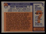1976 Topps #38  Russ Washington  Back Thumbnail