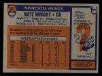 1976 Topps #521  Nate Wright  Back Thumbnail