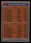 1976 Topps #203   -  O.J. Simpson / Jim Otis  Rushing Leaders Back Thumbnail