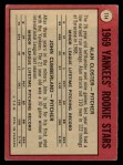 1969 O-Pee-Chee #114   -  Alan Closter / John Cumberland Yankees Rookies   Back Thumbnail