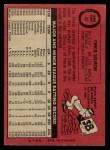 1969 O-Pee-Chee #62  Chico Salmon  Back Thumbnail