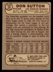 1968 O-Pee-Chee #103  Don Sutton  Back Thumbnail