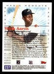 2000 Topps #237 E  -  Hank Aaron 755th Career HR - Magic Moments Back Thumbnail