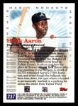2000 Topps #237 D  -  Hank Aaron 715th Career HR - Magic Moments Back Thumbnail