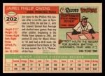 1955 Topps #202  Jim Owens  Back Thumbnail