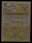 1974 Topps #299  Edgar Chandler  Back Thumbnail