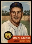 1953 Topps #277  Don Lund  Front Thumbnail