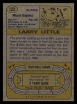 1974 Topps #123   -  Larry Little All-Pro Back Thumbnail