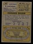 1974 Topps #286  Dennis Shaw  Back Thumbnail