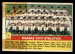 1956 Topps #236   Athletics Team Front Thumbnail