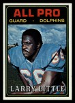 1974 Topps #123   -  Larry Little All-Pro Front Thumbnail