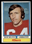 1974 Topps #190  Dave Wilcox  Front Thumbnail