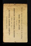 1921 E220 National Caramel  William Cunningham  Back Thumbnail