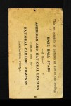 1921 E220 National Caramel  Eddie Collins  Back Thumbnail