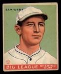 1933 Goudey #166  Sam West  Front Thumbnail