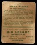 1933 Goudey #37  Jimmy Wilson  Back Thumbnail