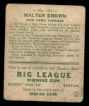 1933 Goudey #192  Walter Brown  Back Thumbnail