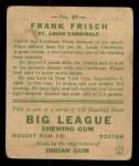 1933 Goudey #49  Frankie Frisch   Back Thumbnail