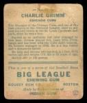 1933 Goudey #51  Charlie Grimm  Back Thumbnail