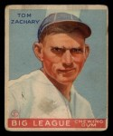 1933 Goudey #91  Tom Zachary  Front Thumbnail