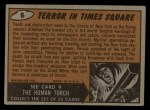 1962 Topps / Bubbles Inc Mars Attacks #8   Terror in Times Square  Back Thumbnail