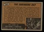 1962 Topps / Bubbles Inc Mars Attacks #24   The Shrinking Ray  Back Thumbnail
