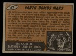 1962 Topps / Bubbles Inc Mars Attacks #47   Earth Bombs Mars  Back Thumbnail