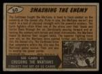 1962 Topps / Bubbles Inc Mars Attacks #50   Smashing the Enemy  Back Thumbnail