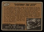 1962 Topps / Bubbles Inc Mars Attacks #11   Destroy the City Back Thumbnail