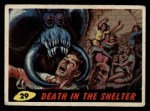 1962 Topps / Bubbles Inc Mars Attacks #29   Death in the Shelter Front Thumbnail