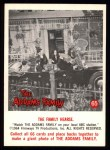 1964 Donruss Addams Family #65 AM  The family hearse Front Thumbnail